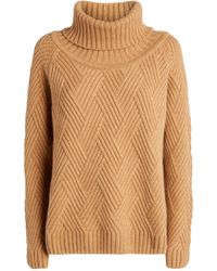 Harrods Cashmere Cable-knit Rollneck Sweater - Brown