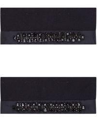 Max Mara Embellished Crystal Cuffs - Black