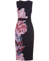 Ted Baker - Xanadu Floral Midi Dress - Lyst