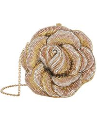 Judith Leiber Crystal Rose Clutch Bag - Metallic