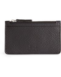 Harrods Leather Coin And Card Pouch - Black