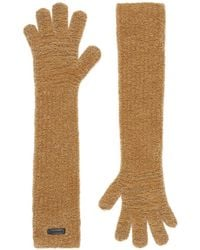 Burberry - Long Length Knitted Gloves - Lyst