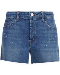 J Brand - Gracie High-rise Shorts - Lyst