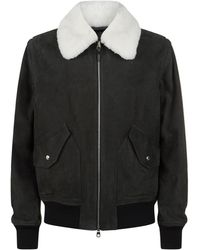 Dunhill - Shearling Leather Jacket - Lyst