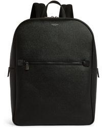 Serapian Leather Backpack - Black