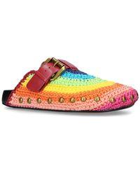 Kurt Geiger Knitted Rainbow Ozark Slippers - Multicolour