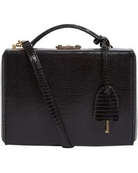 Mark Cross Small Lizard Grace Box Bag - Black