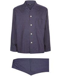 Harrods - Check Flannel Pyjamas - Lyst
