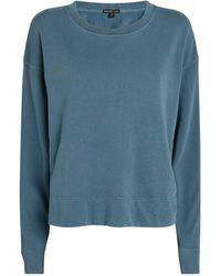 James Perse Cotton Cropped Sweatshirt - Blue