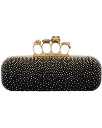 Alexander McQueen - Studded Leather Knuckle Box Clutch Bag - Lyst