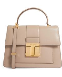 Tom Ford Large Leather 001 Top-handle Bag - Brown