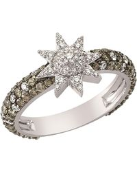 Bee Goddess   Venus Star Diamond Ring, Brown, One Size   Lyst