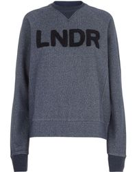 LNDR - Crew Logo Patch Cotton Sweatshirt - Lyst