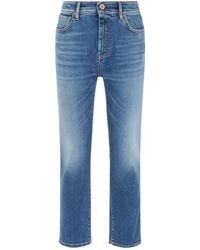 Weekend by Maxmara - Denim Straight Leg Jeans - Lyst