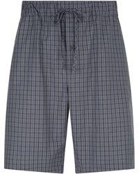 Hanro - Cotton Check Pyjama Shorts - Lyst