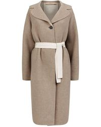Brock Collection Palazzolo Cashmere Coat - Natural