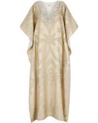 Badgley Mischka - Embellished Kaftan - Lyst