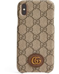 Gucci GG Supreme Canvas Iphone Xr Case - Natural