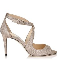 Jimmy Choo - Emily 85 Leather Sandals - Lyst