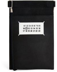 Maison Margiela Leather Strap-detail Pouch - Black