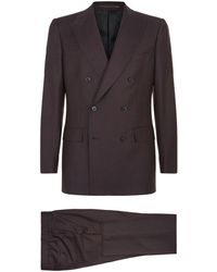 Gieves & Hawkes - Double Breasted Wool Suit - Lyst