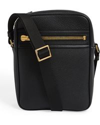 Tom Ford Small Leather Buckley Messenger Bag - Black