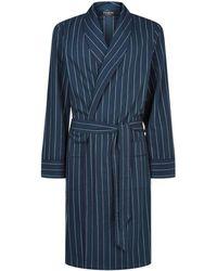 Harrods - Colourblock Flannel Robe - Lyst