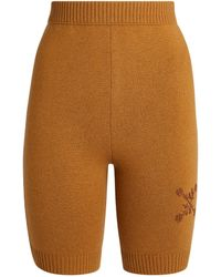 Off-White c/o Virgil Abloh Knitted Biker Shorts - Natural
