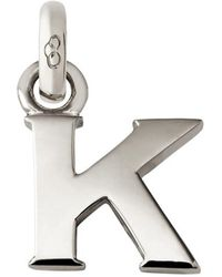 Links of London - Sterling Silver Letter K Charm - Lyst