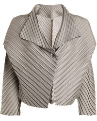 Issey Miyake Pleated Jacket - Metallic