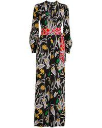 Diane von Furstenberg Bali Silk Floral Print Jumpsuit - Multicolour