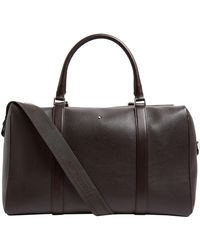 Montblanc Grained Leather Holdall - Brown