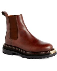 Sandro Leather Chelsea Boots - Brown