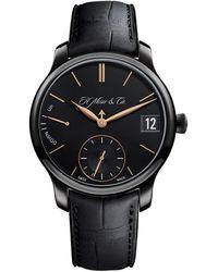 H. Moser & Cie Endeavour Perpetual Calendar Watch 40.8mm - Black