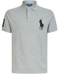 Polo Ralph Lauren Big Pony Logo Polo Shirt - Grey