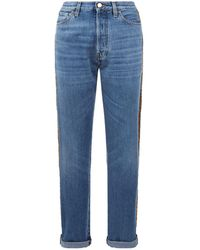 Roberto Cavalli - Sequined Jeans - Lyst