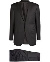 Canali Wool Two-piece Suit - Gray
