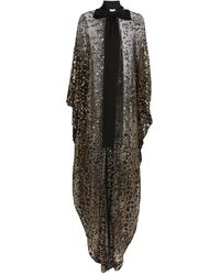 Elie Saab Embellished Tulle Cape - Black