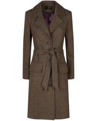 James Purdey & Sons - Ellis Tweed Coat, Grey, Uk 10 - Lyst