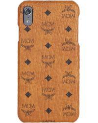 MCM Visetos Iphone Xs Max Case - Brown