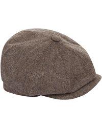1af98155a Stetson Herringbone Bandera Flat Cap in Gray for Men - Lyst