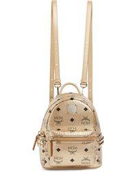 MCM X Mini Studded Stark Backpack - Metallic