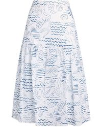 KENZO Mermaid Midi Skirt - Blue