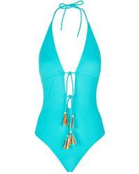 Lazul Denise Tassel Swimsuit - Blue