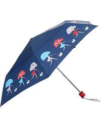 Harrods Walking In The Rain Umbrella - Blue
