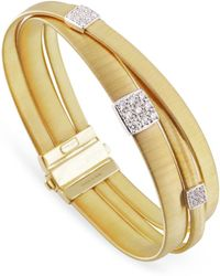 Marco Bicego - Masai Triple Band Diamond Bracelet - Lyst