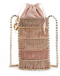 Rosantica Embellished Ginger Shimmy Bucket Bag - Pink