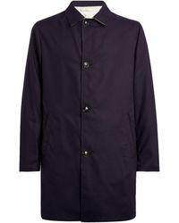 Kiton Reversible Coat - Blue