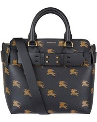 Burberry - Small Leather Equestrian Knight Belt Bag - Lyst