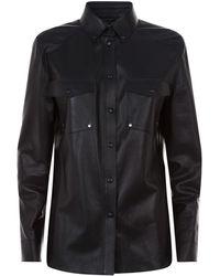 Roberto Cavalli - Fringed Leather Shirt - Lyst